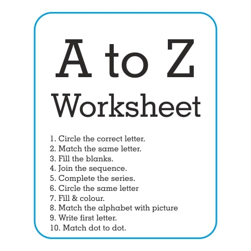 A to Z Worksheets